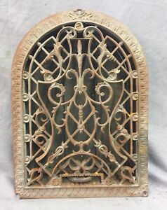 Antique Cast Iron Arch Decorative Heat Grate Wall Register 9x12 Dome Vtg 26 19c