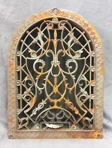 Antique Cast Iron Arch Decorative Heat Grate Register 9x12 Dome Vintage 27 19c