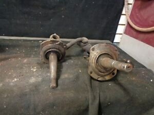 1928 1931 Model A Ford Front Spindles Pair Right And Left With Steering Arms