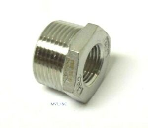 4 X 2 150 Cast Threaded npt Hex Bushing 304 Stainless Steel