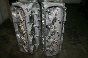 1 Pair Bbc Brodix Bb4 Cnc Heads With Manley Valves Marine Or Race