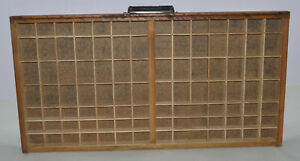 Vintage Printer s Letterpress Type Drawer Shadow Box Full Size News Caps Case