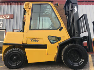 Yale Gdp090 9000lb Diesel Pneumatic Forklift Lift Truck