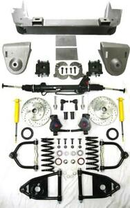 1936 1948 Chevy Car Mustang Ii Power Front End Suspension Kit 2 Drop Slotted