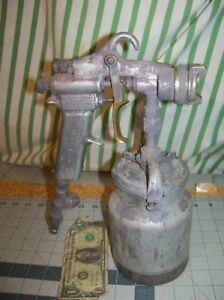 Vintage Devilbiss Type Mbc Paint Spray Gun 30 Tip 73 157 Valve Binks Usa