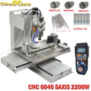 6040 5axis Cnc 2 2kw Router Engraving Usb Port Machine Metal Milling Machine