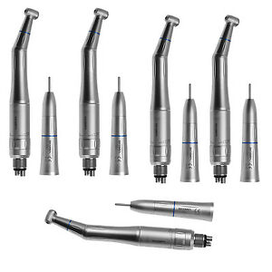 5 Kits Kavo Style Dental Low Speed Handpiece Contra Angle Straight Air Motor 4h