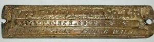 Rare Antique Story Bacon Waterloo Wagon N Y Carriage Buggy Horse Drawn Tag