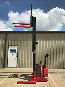 2004 Raymond Rss40 Walk Behind Forklift Walkie Straddle Stacker 128 3750lb
