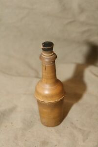 Antique 4 5 Turned Wood Needle Case W Pegs Inside Threaded Sewing Aid Box