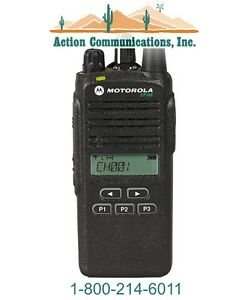 New Motorola Cp185 Vhf 136 174 Mhz 5 Watt 16 Channel Display Two Way Radio