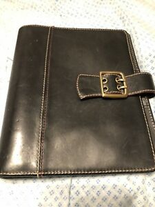 Franklin Covey Vintage Boston Black Classic Leather Planner