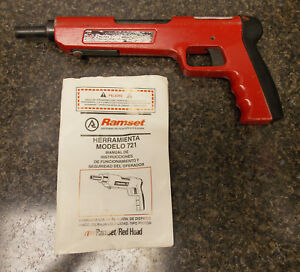 Ramset Red Head 721 22 Caliber Single Shot Low Velocity Fastening Tool