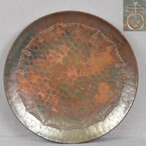 1900s Hammered Copper Roycroft Card Tray