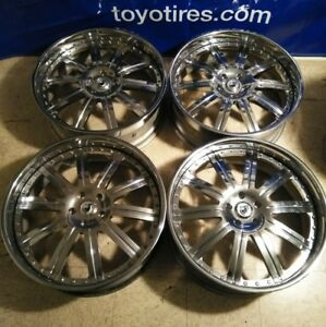 4 24 Asanti Forged Af 134 Wheels 5x127 Rims Rare 24x9 Custom Chrome 3 Piece