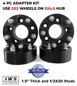 4 Hubcentric Wheel Adapters 5x4 5 To 5x5 1 5 Jeep Jk Wheels On Tj Yj Black