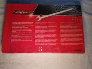 Brand New Snap On 10pc Metric Long Handle Flank Drive Plus Wrench Set