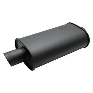 Vibrant Performance 1146 2 5 Inlet Streetpower Flat Black Oval Muffler
