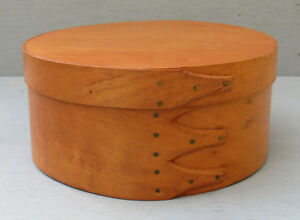 Vintage Shaker Style Round Bentwood 3 Finger Pantry Storage Box