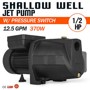 1 2 Hp Shallow Well Jet Pump W Pressure Switch 110v Supply Water 48 M 3 4 M3 h