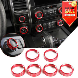 For Ford F150 Xlt 2016 Air Conditioner Trailer Audio Switch Ring Cover Trim