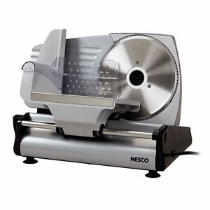 Electric Food Slicer Cheese Deli Ham Bread Cutter Machine Stainless Steel Blade