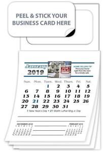 2019 Magnetic Business Card Calendars Real Estate Ver 4301 Free Shipping