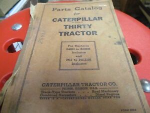 Caterpillar Thirty Tractor Parts Catalog S n Ps1 To Ps13285