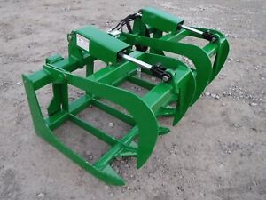 John Deere Tractor Loader 60 Dual Cylinder Root Grapple Bucket 99 Ship
