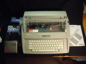 Kl Brother Sx 4000 Electronic Typewriter W extras Works Great
