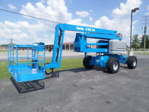 2005 Genie Z60 34 Articulating Boom Lift Manlift Z boom Aerial Knuckle Boomlift