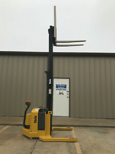 2006 Yale Walkie Stacker Walk Behind Forklift Straddle Lift Only 3564 Hours