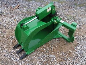 John Deere Tractor Attachment Heavy Duty Stump Tooth Bucket Grapple Ship 149