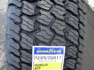 4 New 265 70r17 Goodyear Wrangler At S Tires 265 70 17 R17 2657017 A T 70r