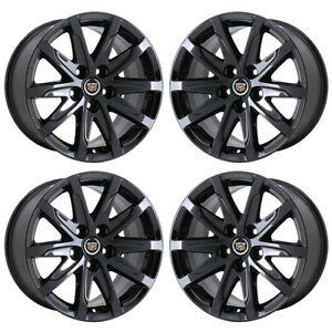 17 Cadillac Cts Sedan Black Chrome Wheels Rims Factory Oem 4712 4713 Exchange