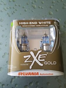 Sylvania Silverstar Zxe Gold High End White H13 Set Of 2 Sealed Bulbs New 9008