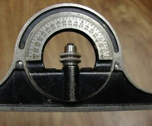 Old Used Tools vintage Starrett No 492 Protractor Head very Good Used Condition