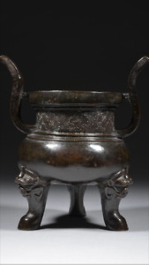 Ming Dynasty Bronze Tripod Censer Bonhams Dark Chocolate Brown Hue