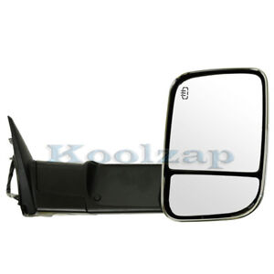 Kv Manual Rear View Door Mirror W Glass Housing Right Passenger Side