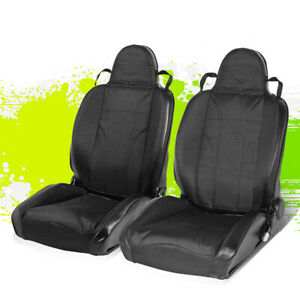 Adjustable Black Striped Xl 01 Pvc Leather Sport Bucket Racing Seat Left right