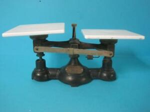 Vintage Antique Ohaus Beam Balance Newark Cast Iron Scale Pharmacy Medical Rare