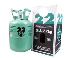 New R 22 Virgin Refrigerant Factory Sealed 5 Lbs Free Same Day Shipping