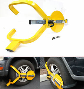 Wheel Lock Clamp Boot Tire Claw Trailer Auto Car Truck Anti theft Towing Boot