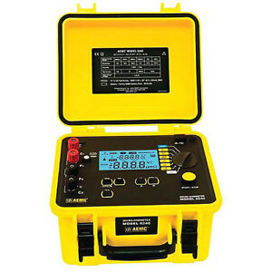 Aemc 6240 Micro ohmmeter 10a Instantaneous Continuous Multiple Test
