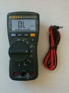 Fluke 115 True Rms Digital Handheld Multimeter New Test Lead Probes Nice