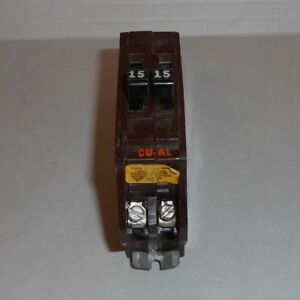 Wadsworth Tandem 15 15 Amp 1 Pole Mini Circuit Breaker Type A Space Saver Twin