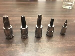 Snap on 1 4 3 8 Torx Sockets