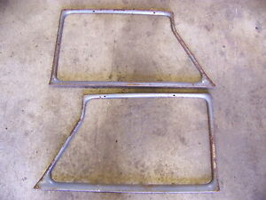 1959 Chevrolet Parkwood Wagon Door Window Garnish Moldings 4 Brookwood Bel Air