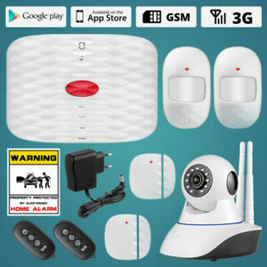 Wolf guard Remote Control 3g Gsm Alarm Systems Security Home Pir Ip Hd Camera