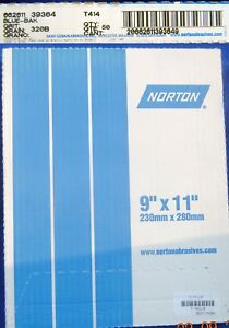 Norton Blue bak T414 Waterproof Paper 50 Sheet Pack 320b Grit New Free Shipping